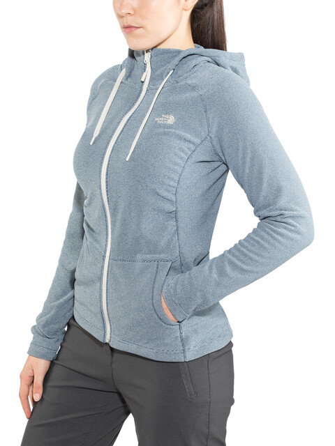 The North Face Mezzaluna Full Zip Hoodie Women Blue Wing Teal Stripe